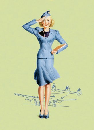 Tapete Stewardess vintage