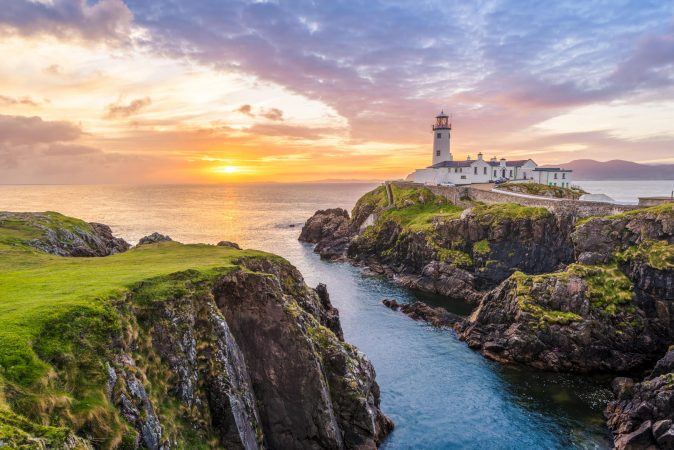 Tapete Fanad Head Leuchtturm in Irland
