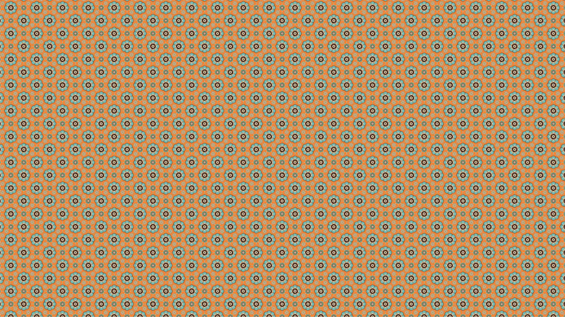 Tapete klassisches Design Blumen orange